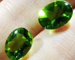 3.95 Cts Pair Peridot Gemstones  9X7MM  HS 67