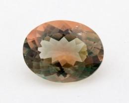 2.1ct Green/Peach Oval Sunstone (S1273)