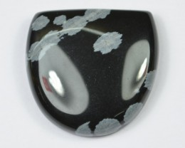 37.20 CT BEAUTIFUL SNOWFLAKE OBSIDIAN(NATURAL+UNTREATED)