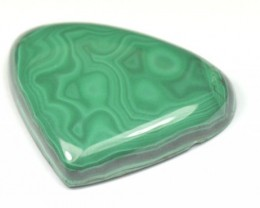 SALE 31mm AAA Malachite heart shape cabochon 31 by 25 by 5.5mm