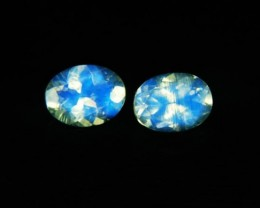 VVS AAA+ Natural Faceted Moonstone Pair Z 1194