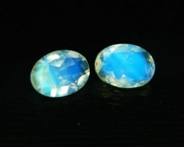 VVS AAA+ Natural Faceted Moonstone Pair Z 1197