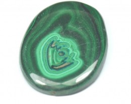SALE 37mm AAA Malachite oval shape cabochon with azurite 37 by 28 by 5.5mm