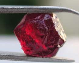 4.30ct DARK RED TREATED ROUGH RUBY FROM MADAGASCAR