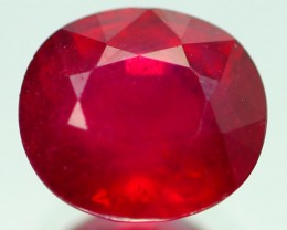 2.34Carat Natural Madagascar Mined / Cherry Red Color / Oval Cutting