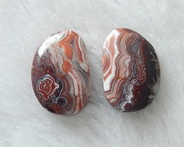 Mexico Crazy Lace Agate Pair -Lace Pattern Agate ,21x15x5mm