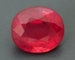 CERT 1.25ct Natural *UNHEATED RUBY Mozambique