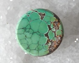 Natural Turquoise Cabochon,Green Vintage CAB,16x3mm