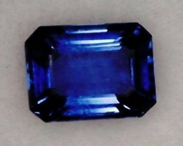 .50ct Stunning Emerald Cut Violet Blue Sapphire, VVS Ceylon BB01