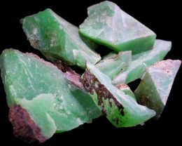 81.2 CTS CHRYSOPRASE OFF CUTS APPLE GREEN [FLA395]