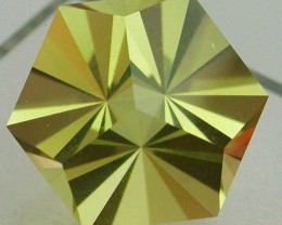 19.41ct CERTIFIED PRECISION MASTERCUT BRAZILIAN CITRINE - TRINITY HEXAGON