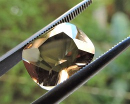 6.55ct WONDERFUL FACETED BRAZILIAN SMOKEY QUARTZ GEM CUT IN THE U.S