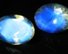AAA+ Brazil Moonstone Faceted Stone Pair Z 2024
