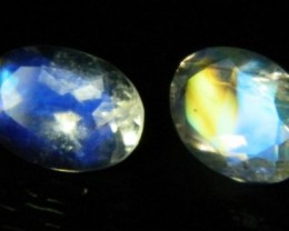 AAA+ Brazil Moonstone Faceted Stone Pair Z 2027