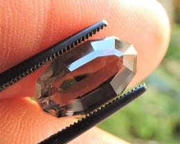 5.25ct  FACETED BRAZILIAN SMOKEY QUARTZ GEMSTONE CUT IN THE U.S