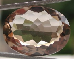 15.00ct MARVELLOUS FACETED BRAZILIAN SMOKEY QUARTZ GEM CUT IN THE U.S
