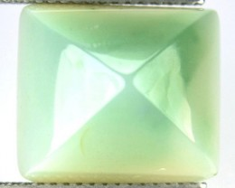 11.98 Cts Natural Milky Green Chalcedony Brazil
