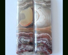Mexico Crazy Lace Rosseta Agate Earring Beads?41x12x5mm