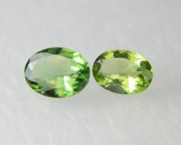 AAA+ Brazil Olive Apatite Faceted Stone Pair Z 1174