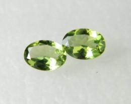 AAA+ Brazil Olive Apatite Faceted Stone Pair Z 1175
