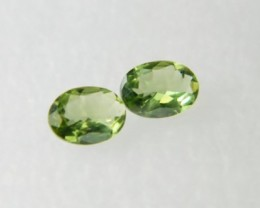 AAA+ Brazil Olive Apatite Faceted Stone Pair Z 1178