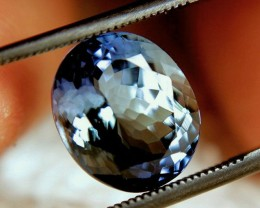 CERTIFIED - 5.23 Carat VVS Vibrant Tanzanite - Superb