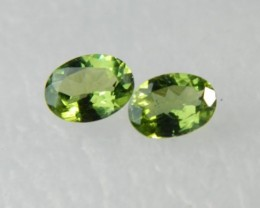AAA+ Brazil Olive Apatite Faceted Stone Pair Z 1182
