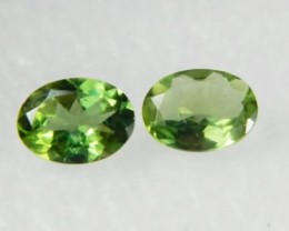 AAA+ Brazil Olive Apatite Faceted Stone Pair Z 1185