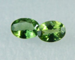 AAA+ Brazil Olive Apatite Faceted Stone Pair Z 1188