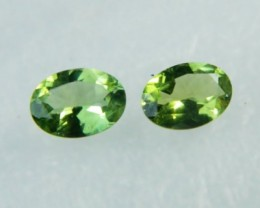 AAA+ Brazil Olive Apatite Faceted Stone Pair Z 1190
