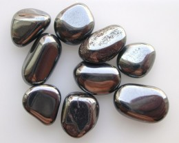 7.72g TUMBLE POLISHED HEMATITE FROM BRAZIL 9 STONES (38.60ct)