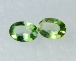 AAA+ Brazil Olive Apatite Faceted Stone Pair Z 1132