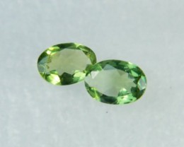 AAA+ Brazil Olive Apatite Faceted Stone Pair Z 1134
