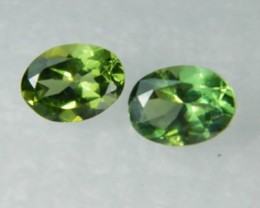 AAA+ Brazil Olive Apatite Faceted Stone Pair Z 1135