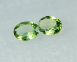 AAA+ Brazil Olive Apatite Faceted Stone Pair Z 1138