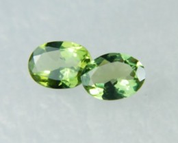 AAA+ Brazil Olive Apatite Faceted Stone Pair Z 1139