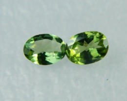 AAA+ Brazil Olive Apatite Faceted Stone Pair Z 1140