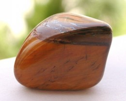 6.80g TUMBLE POLISHED CHATOYANT TIGERS EYE STONE AFRICA (34.00ct)