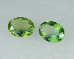 AAA+ Brazil Olive Apatite Faceted Stone Pair Z 2031