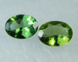 AAA+ Brazil Olive Apatite Faceted Stone Pair Z 2036