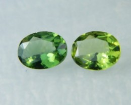 AAA+ Brazil Olive Apatite Faceted Stone Pair Z 2037