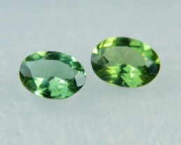 AAA+ Brazil Olive Apatite Faceted Stone Pair Z 2042