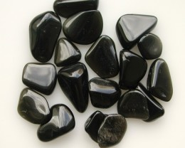 10.35g TUMBLE POLISHED BLACK OBSIDIAN 18 PIECES (51.75ct)