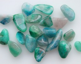 7.60g TUMBLE POLISHED CHRYSOCOLLA FROM U.S.A 20 PIECES (38.00ct)