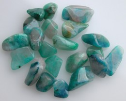 7.48g TUMBLE POLISHED CHRYSOCOLLA FROM U.S.A 22 PIECES (37.40ct)
