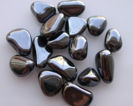 13.50g TUMBLE POLISHED HEMATITE FROM BRAZIL 16 STONES (67.50ct)