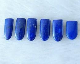 Loose Lapis Lazuli Beads ,15x6x3mm,19cts