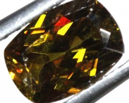 1.70 CTS CHROME SPHENE FACETED 1.70  CTS PG-440