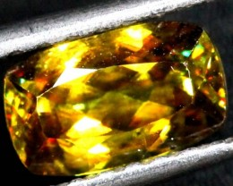 CHROME SPHENE FACETED    1.35 CTS PG-443