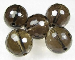 11-12mm Brazil Smokey Quartz Drilled Beads Z 2081